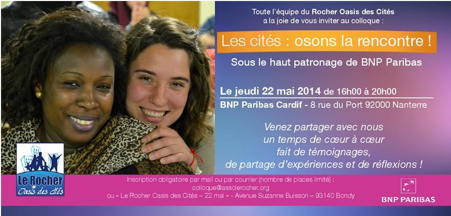 Colloque Osons la rencontre © Le Rocher Oasis des Cités 2014