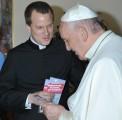L'équipe de l'ESM Rome rencontre le pape