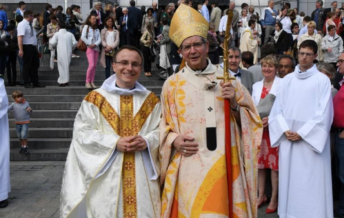 Luc-Emmanuel Dupont, ordonné prêtre à Lille le 26 juin 2016.