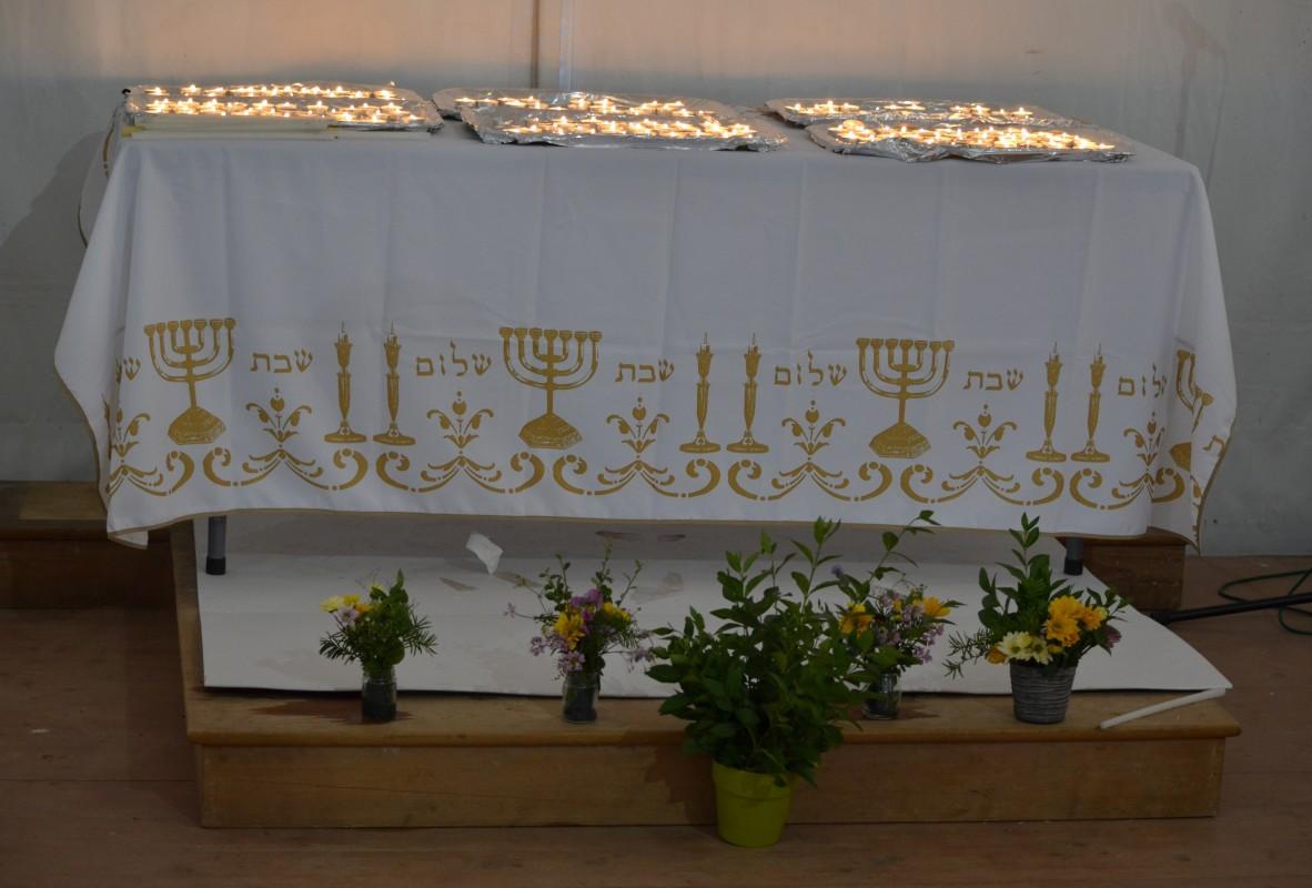 Les bougies de shabbat allumées