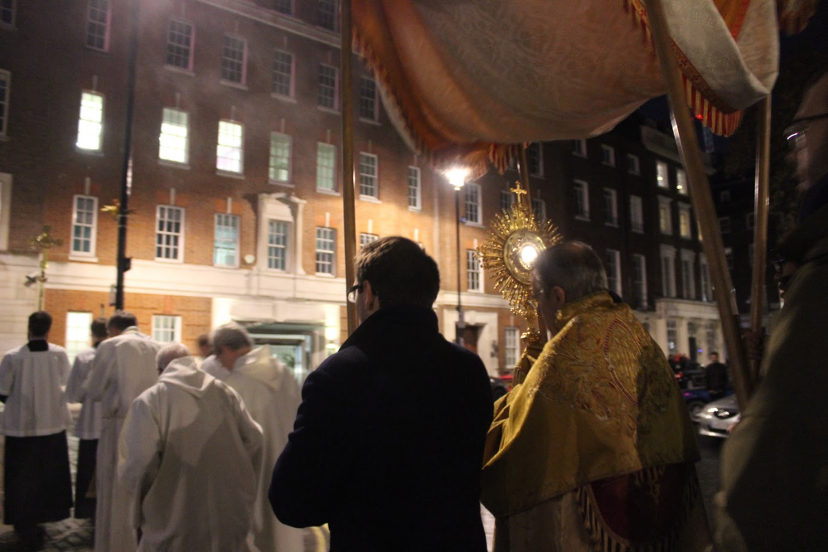 Soho, procession du Saint Sacrement