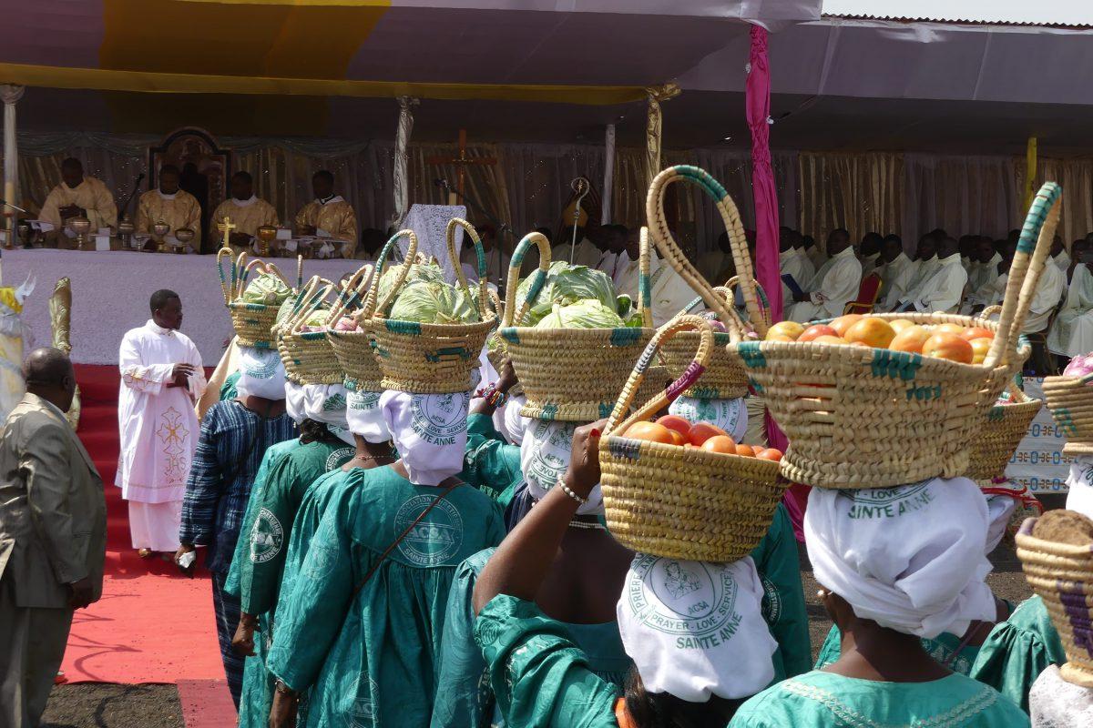 Offrandes durant la messe
