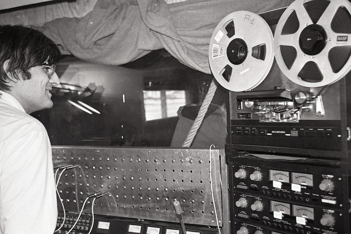 Bruno Pouzoullic et son magnétophone – 1979