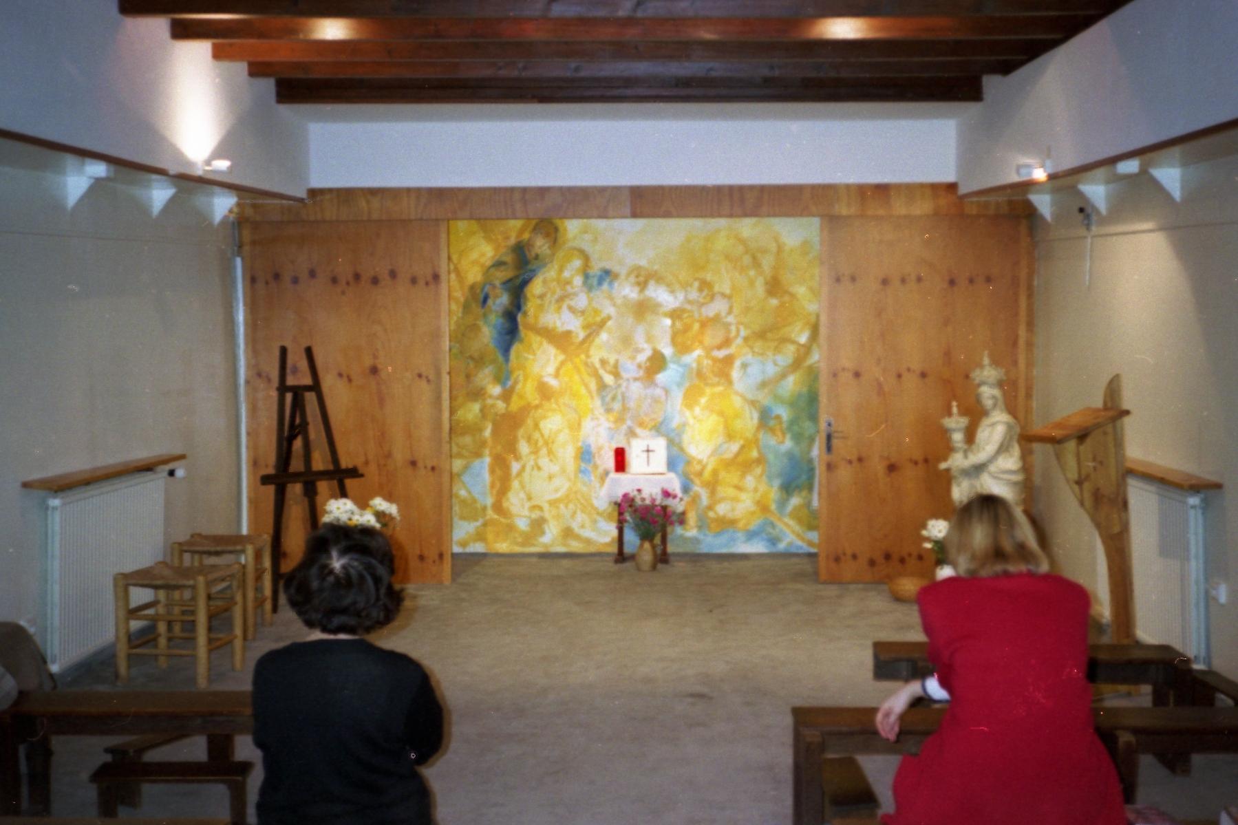 Prière dans la chapelle de la Péniche – 1995