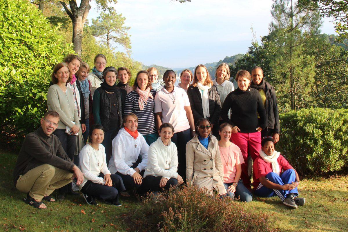 Les soeurs en formation pour la vie consacrée en 2016-2017