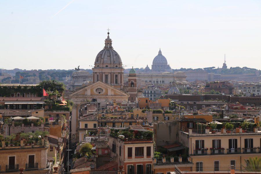 Vue sur Rome depuis la Trinité des Monts