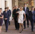 Visite de Brigitte Macron à la Trinité-des-Monts