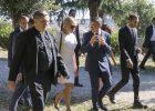 2018-06-26 – Brigitte Macron à la Trinité des Monts – visite des jardins