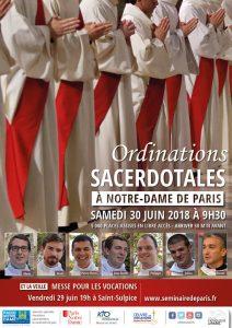 Ordinations Paris 2018