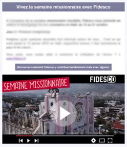 Semaine mission Fidesco apercu site