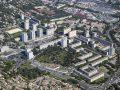 Vue aérienne de Nîmes