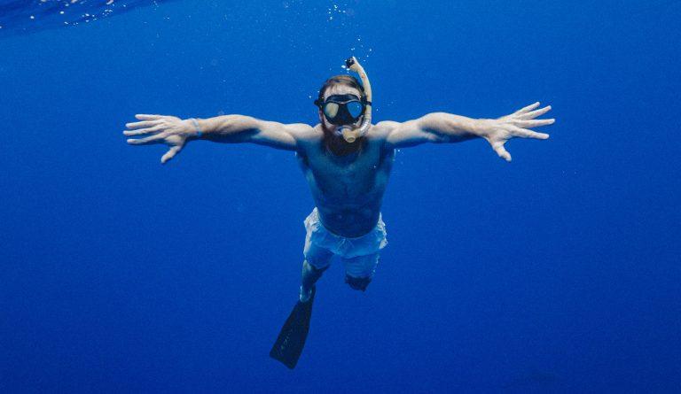 Plongee mer homme