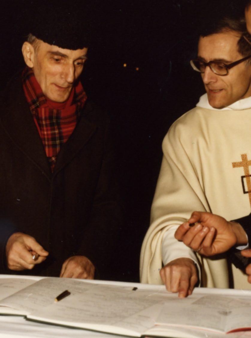 Albert-Marie de Monléon et Pierre Goursat, au mariage de Guy et Isabelle de la Barthe (1986)