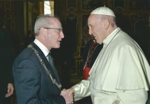bernard bij paus