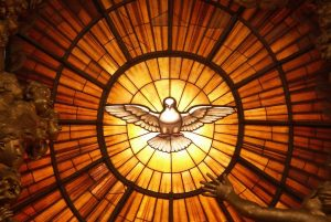 vitrail avec colombe du st esprit eglise st pierre de rome c wikipedia