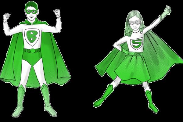 Petits heros ecolo illustration