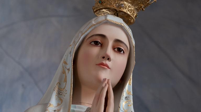 Vignette statue Marie Fatima