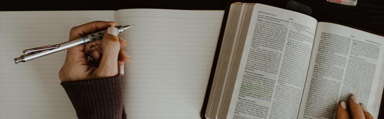 Carnet sanctification Bible