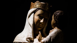 Vignette Vierge Marie Jesus enfant noir iev