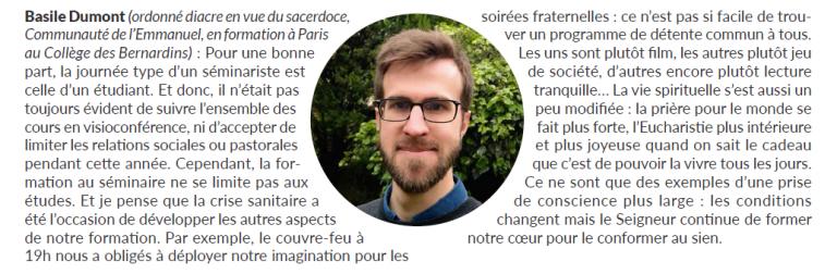 Dumont journal diocese Bordeaux 2021