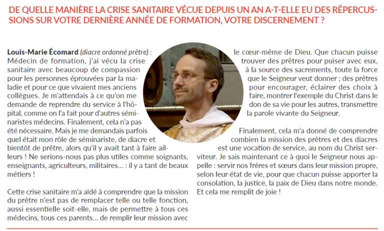 Ecomard journal diocese Bordeaux 2021