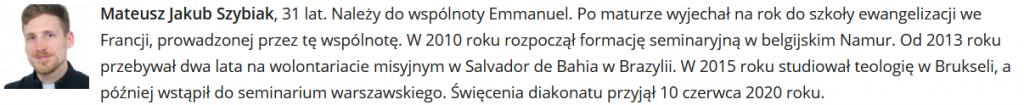 Mateusz Szybiak ordination 2021