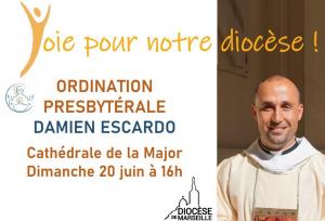 Ordination Damien Escardo Marseille diocese